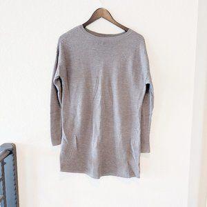 Tahari Light Tan Wool Sweater tunic Large